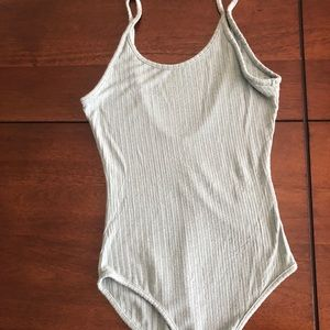 Urban outfitters simple dusty blue body suit!
